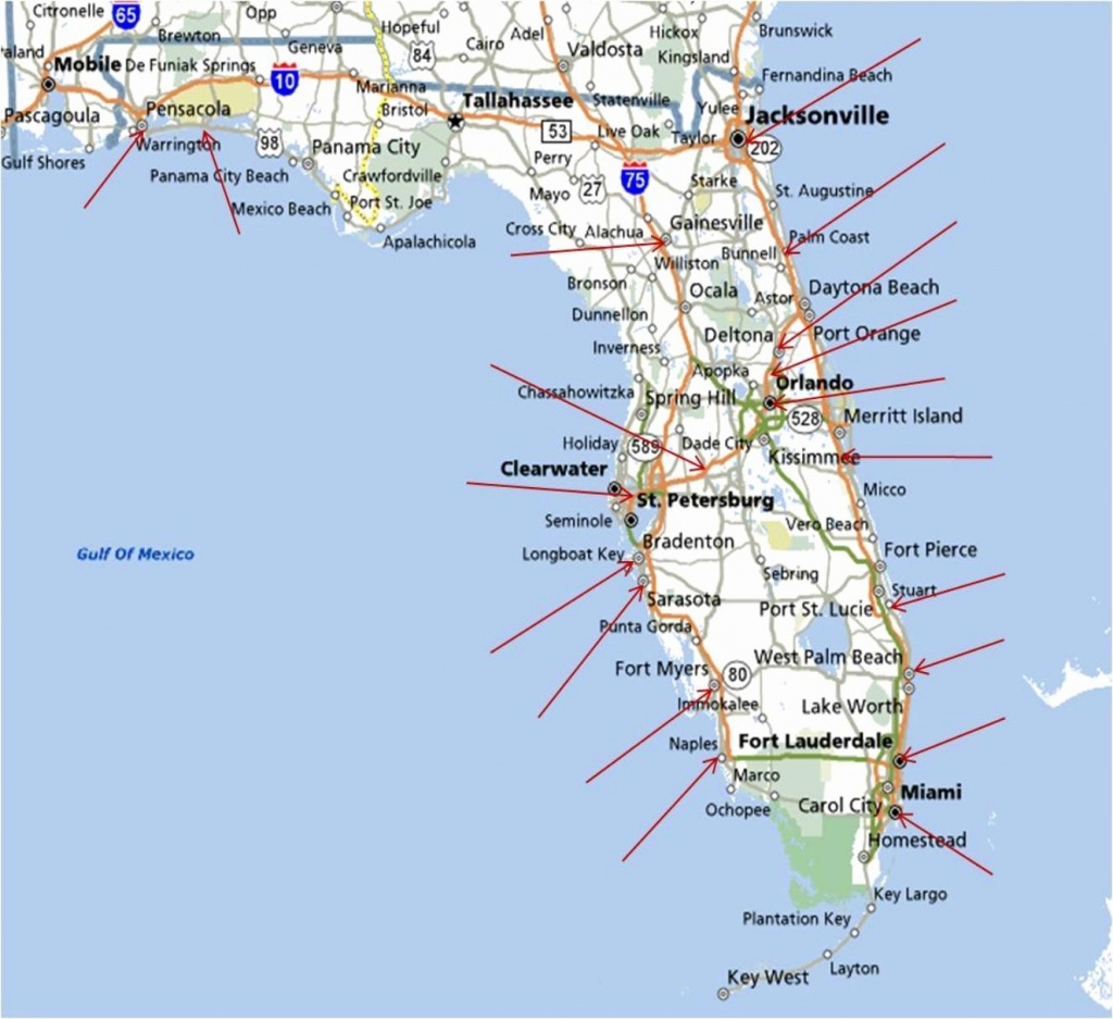 Best East Coast Florida Beaches New Map Florida West Coast Florida - Map Of Florida Beach Towns