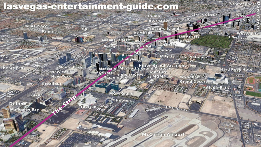 Best Las Vegas Strip Maps - Printable Map Of Las Vegas Strip With Hotel Names