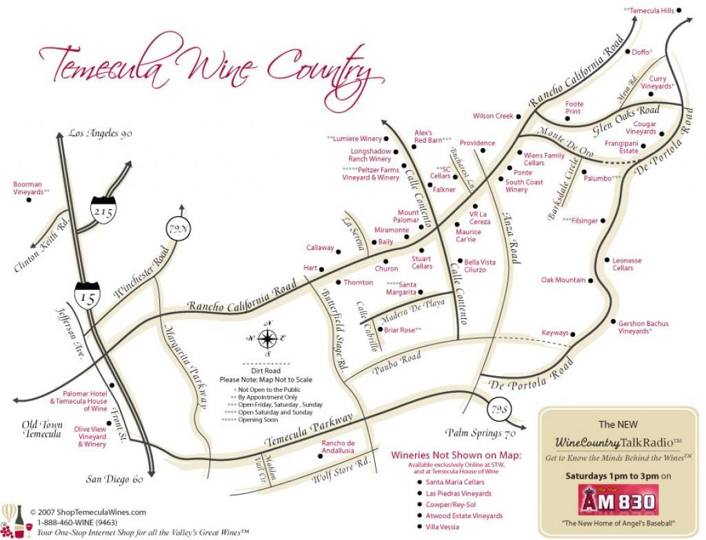 Best Temecula Wineries   Hubpages - Temecula Winery Map Printable