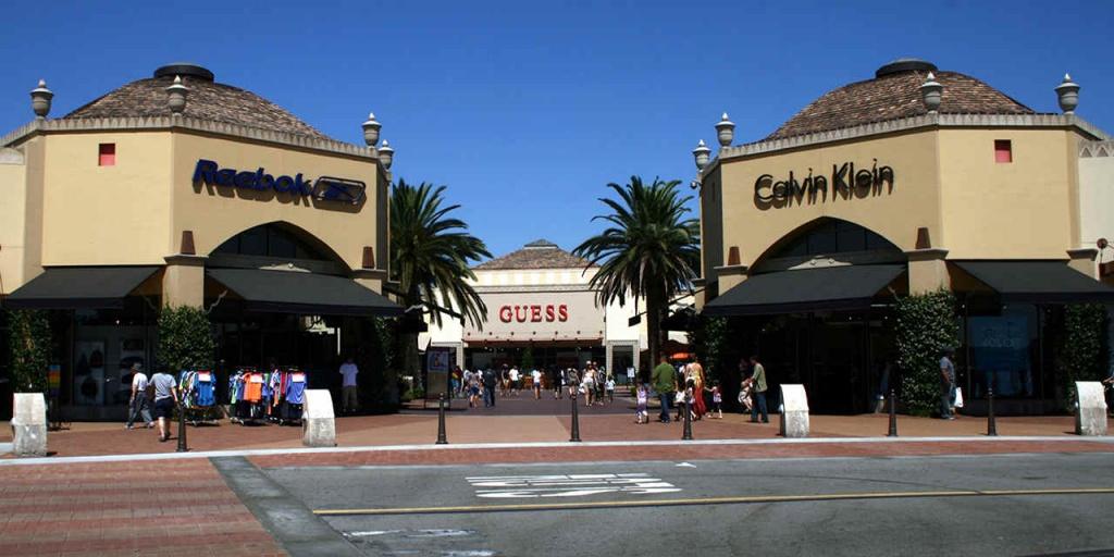 Big-Bargain Outlet Malls   Visit California - Southern California Outlet Malls Map