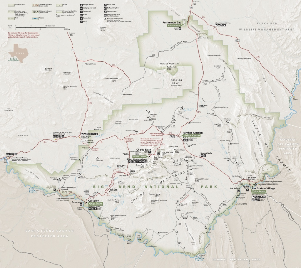 Big Bend Maps | Npmaps - Just Free Maps, Period. - Texas State Campgrounds Map