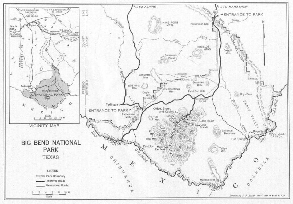 Big Bend National Park - Lajitas Texas Map
