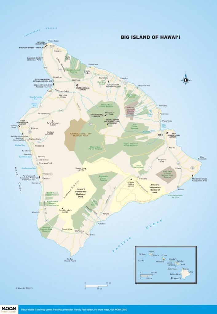 Big Island Of Hawai'i | Scenic Travel | Big Island, Hawaii Volcanoes - Printable Map Of Maui