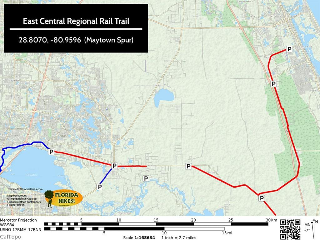 Biking East Central Regional Rail Trail   Ecrrt   Florida Hikes! - Rails To Trails Florida Map
