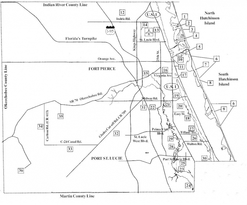 Birdwatching Areas In St Lucie County Florida Map - St Lucie County - Map Of Florida With Port St Lucie