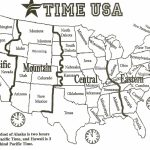 Black And White Us Time Zone Map   Google Search | Social Studies   Usa Time Zone Map Printable