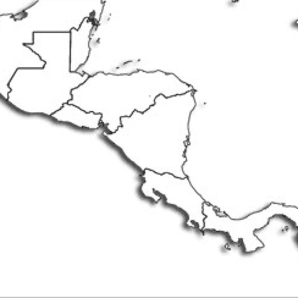 Blank Central America Map Printable Maps - Printable Map Of Central America