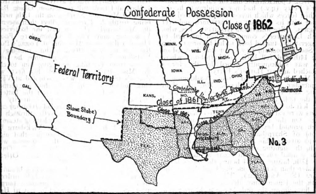 Blank Civil War Map - Printable Civil War Map