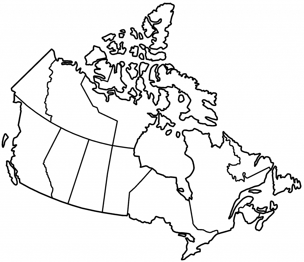 Blank Map Canada - Deadrawings - Printable Blank Map Of Canada