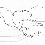 Blank Map Of Central America And Caribbean Islands   America Map   Central America Map Quiz Printable