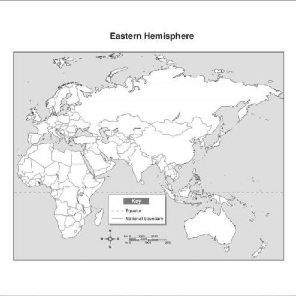 Blank Map Of Eastern Hemisphere 20 See Azizpjax Info - Eastern Hemisphere Map Printable