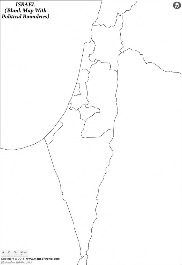 Blank Map Of Israel | Israel Outline Map - Blank Map Israel Printable