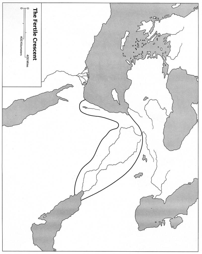 Blank Map Of Mesopotamia For Labeling   Mesopotamia For Kids - Fertile Crescent Map Printable
