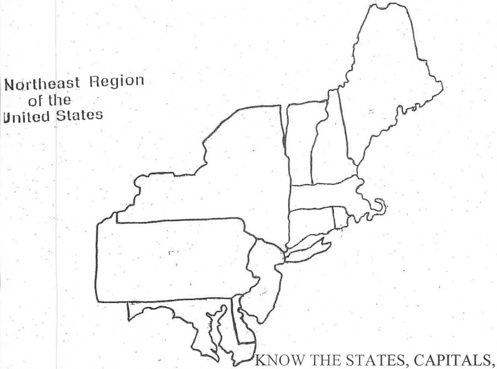 Blank Map Of Northeast Us And Travel Information | Download Free - Printable Map Of Northeast Us