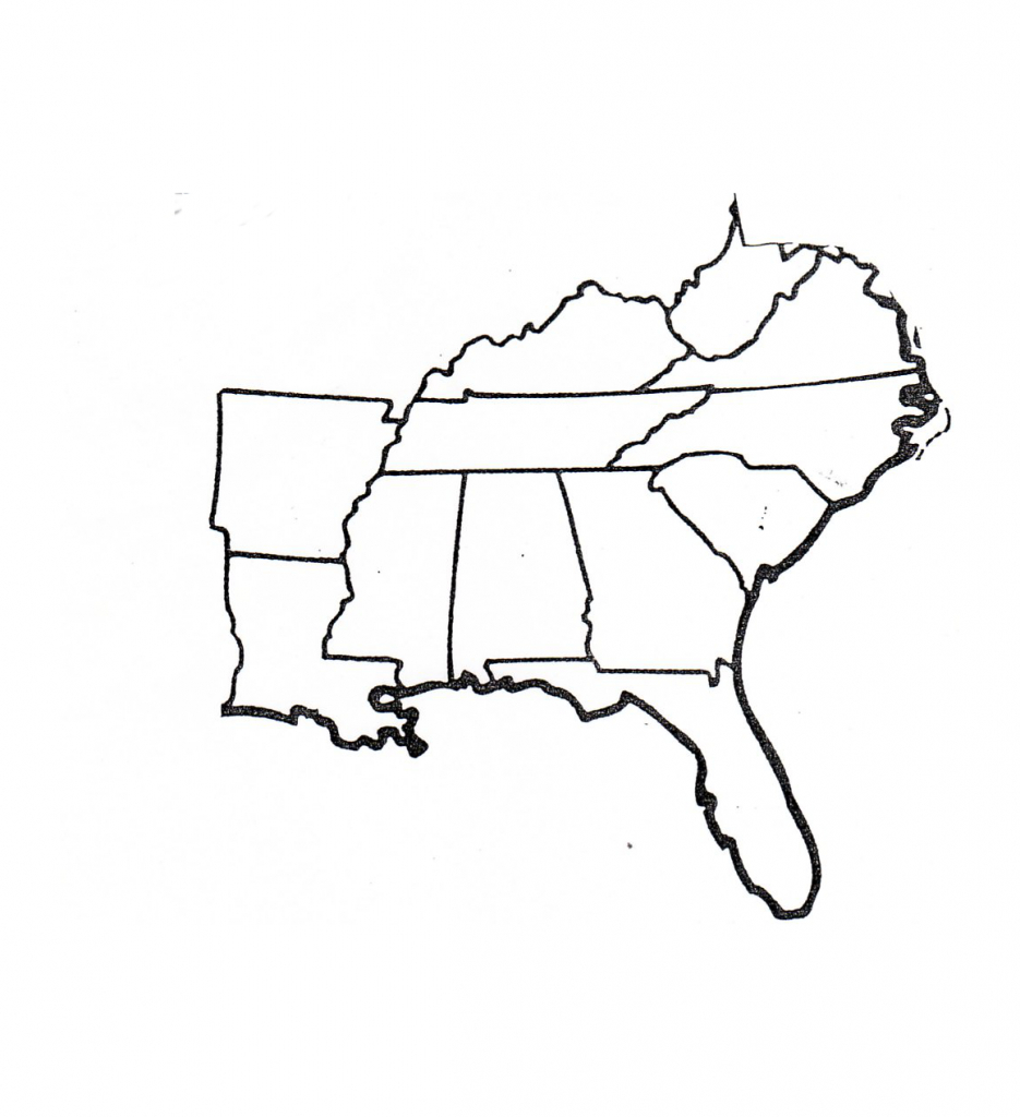 Blank Map Of Southeast Region Within Us | Map | Map, Geography Map - Southeast States Map Printable