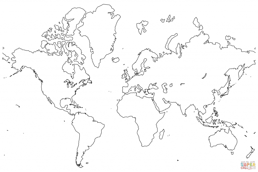 Blank Map Of The World Coloring Page   Free Printable Coloring Pages - Coloring World Map Printable