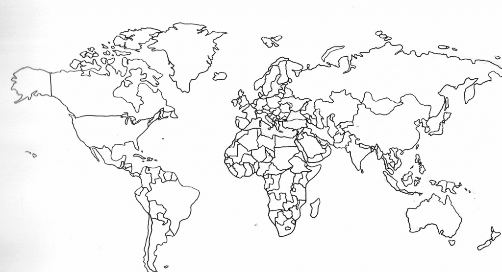 Blank Map Of The World With Countries And Capitals - Google Search - Printable Blank World Map With Countries