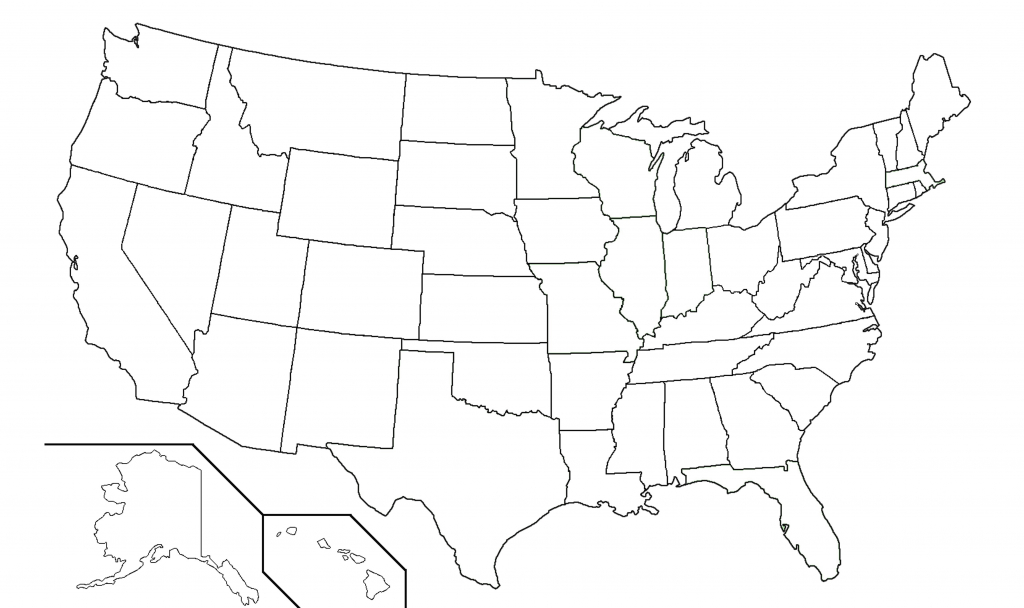 Blank Map Of United States | Sitedesignco - Map Of United States Without State Names Printable