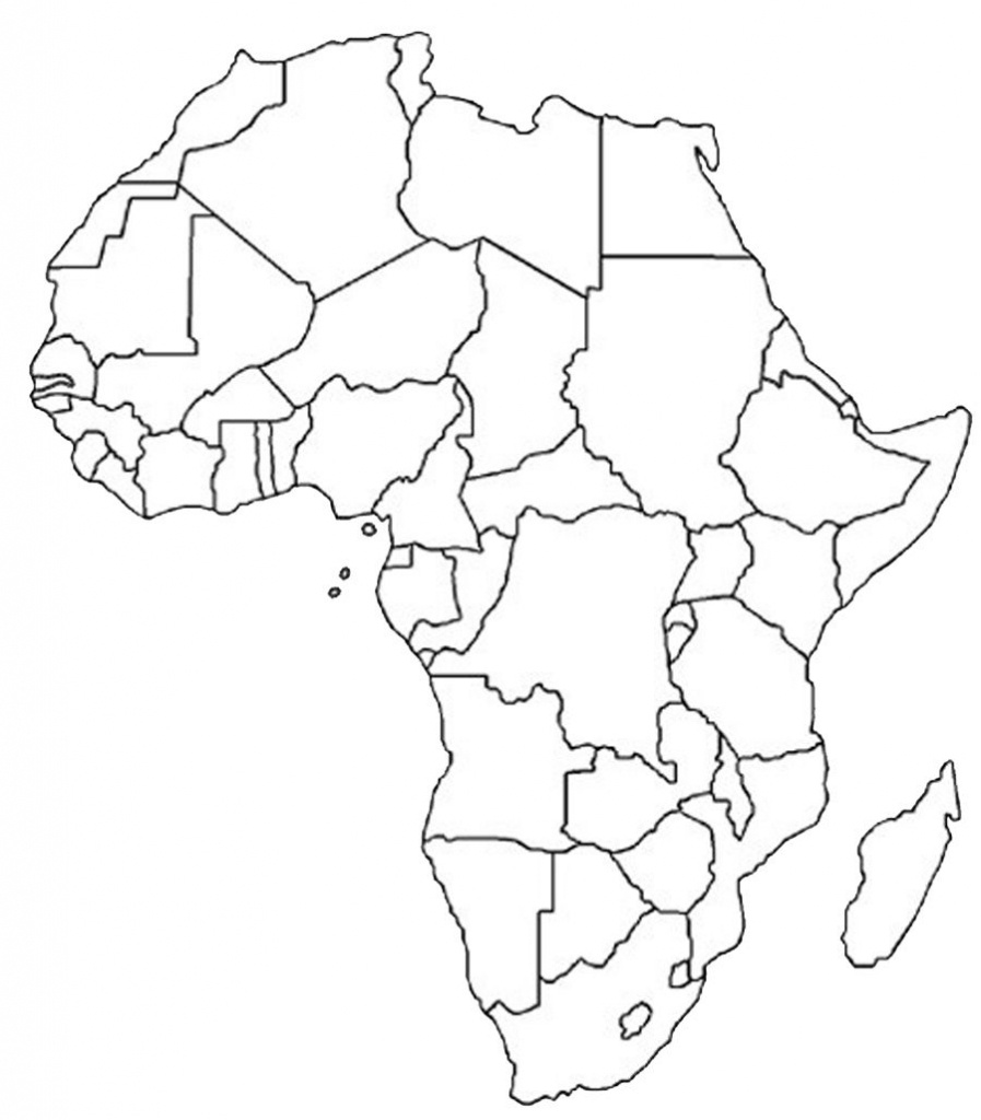 Blank Outline Map Of Africa   Africa Map Assignment   Party Planning - Free Printable Political Map Of Africa