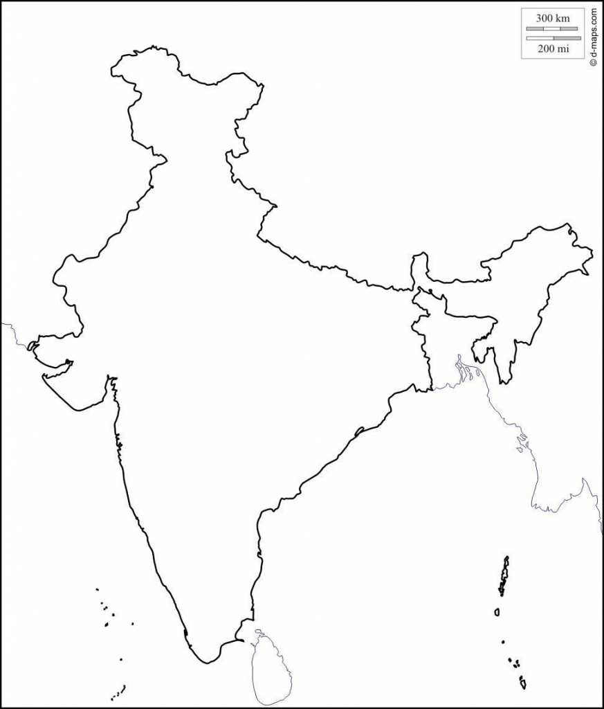 Blank Physical Map Of India | Dehazelmuis - Physical Map Of India Printable
