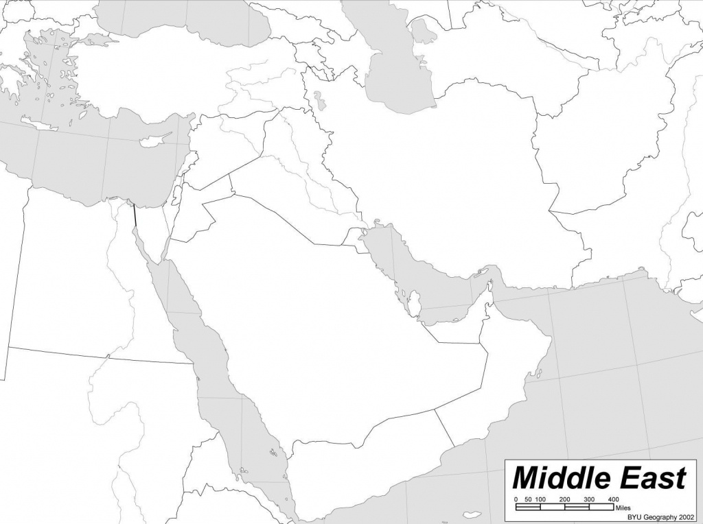 Blank Printable Middle East Countries Map - Berkshireregion - Printable Map Of Middle East