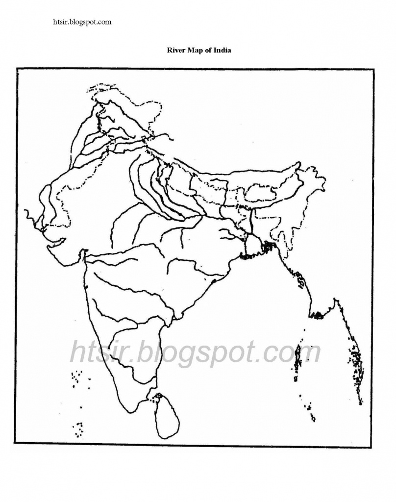 Blank River Map Of India Icse Geography - India River Map Outline Printable