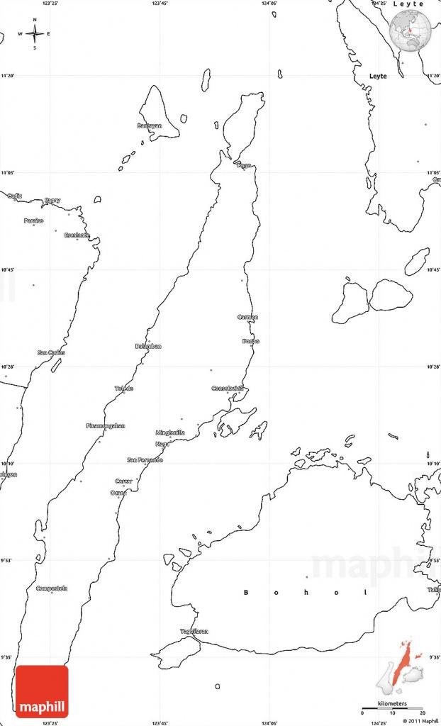 Blank Simple Map Of Cebu - Cebu City Map Printable