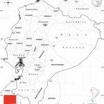 Blank Simple Map Of Ecuador   Printable Map Of Ecuador