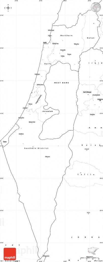 Blank Simple Map Of Israel - Blank Map Israel Printable