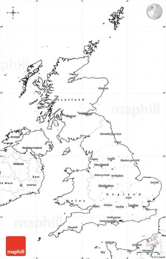 Blank Simple Map Of United Kingdom - Uk Map Outline Printable