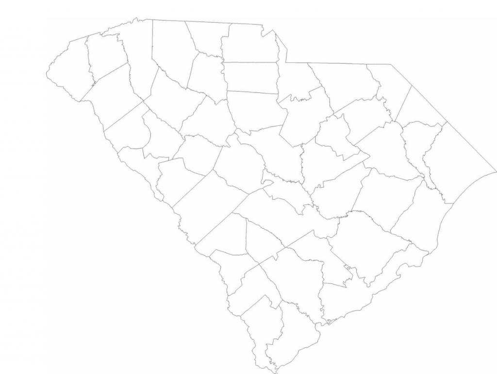 Blank South Carolina County Map Free Download - South Carolina County Map Printable