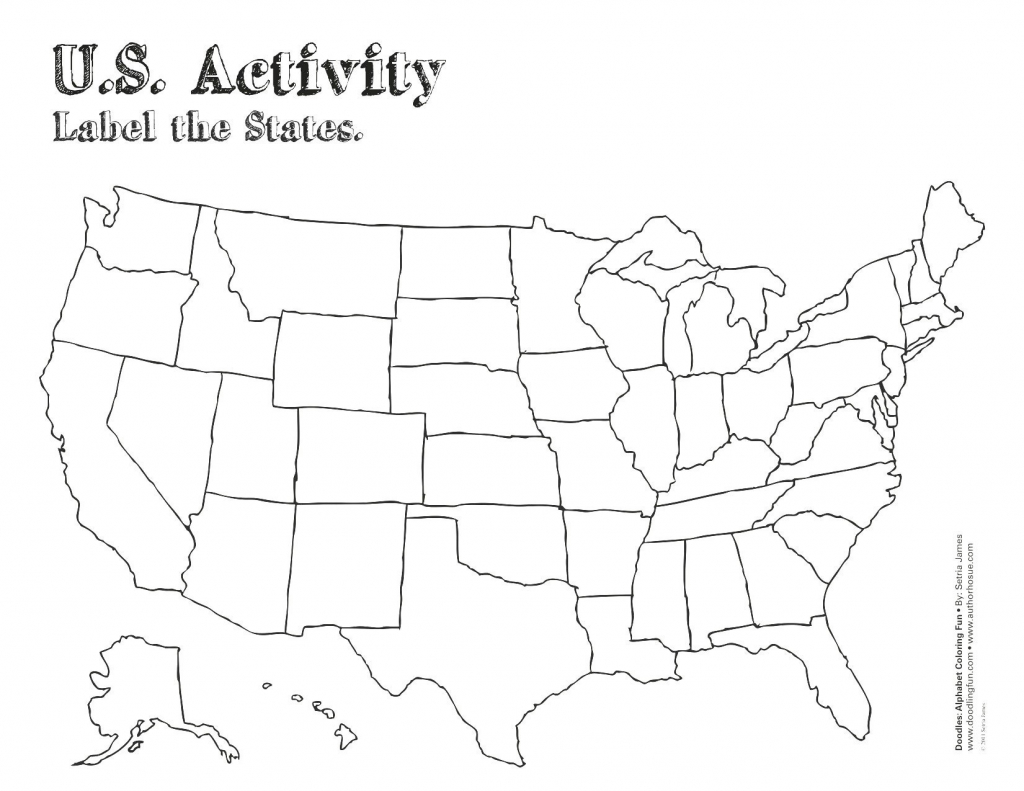 Blank Us Map For Capitals | World Map - Blank States And Capitals Map Printable