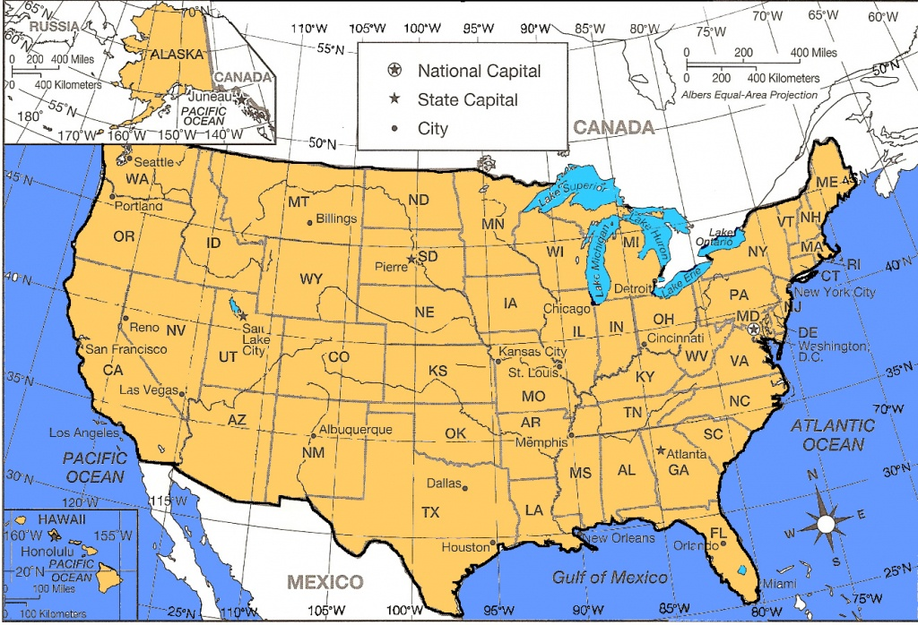 Blank Us Map With Latitude And Longitude Lines Map With Latitude And - Us Map With Latitude And Longitude Printable