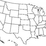Blank Usa Map Free Outline Of Us United States Pdf At   Usa Map Printable Pdf