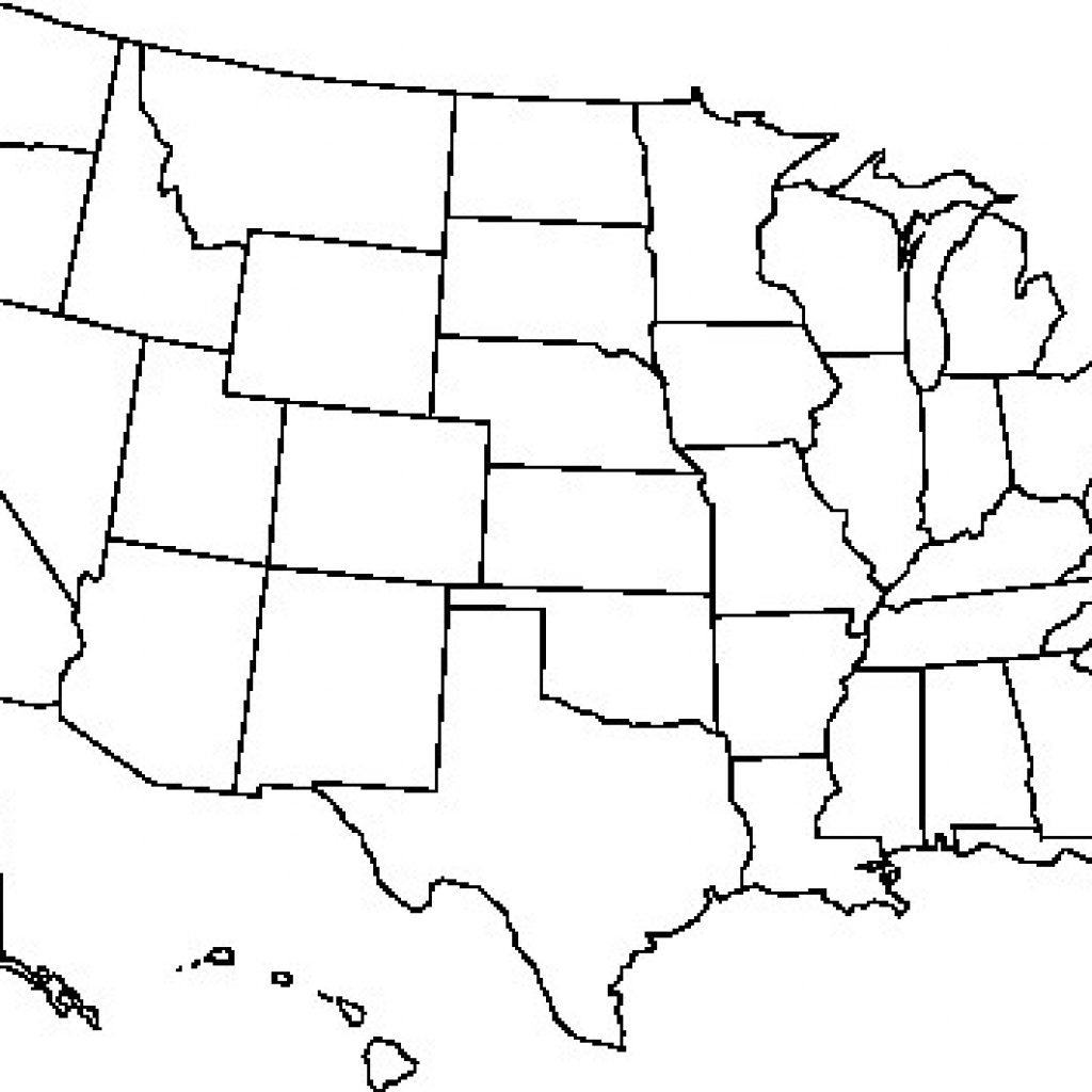 Blank Usa Map Free Outline Of Us United States Pdf At - Usa Map Printable Pdf