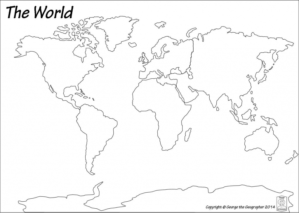 Blank World Map Pdf #3   Art Class   World Map Continents, Blank - Seven Continents Map Printable