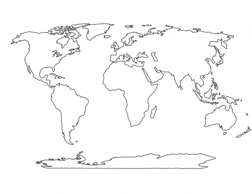 Blank World Map Printable Social Studies Pinterest Craft Inside Of - World Map Outline Printable