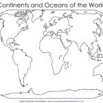 Blank World Map To Fill In Continents And Oceans Archives 7Bit Co   Map Of World Continents And Oceans Printable