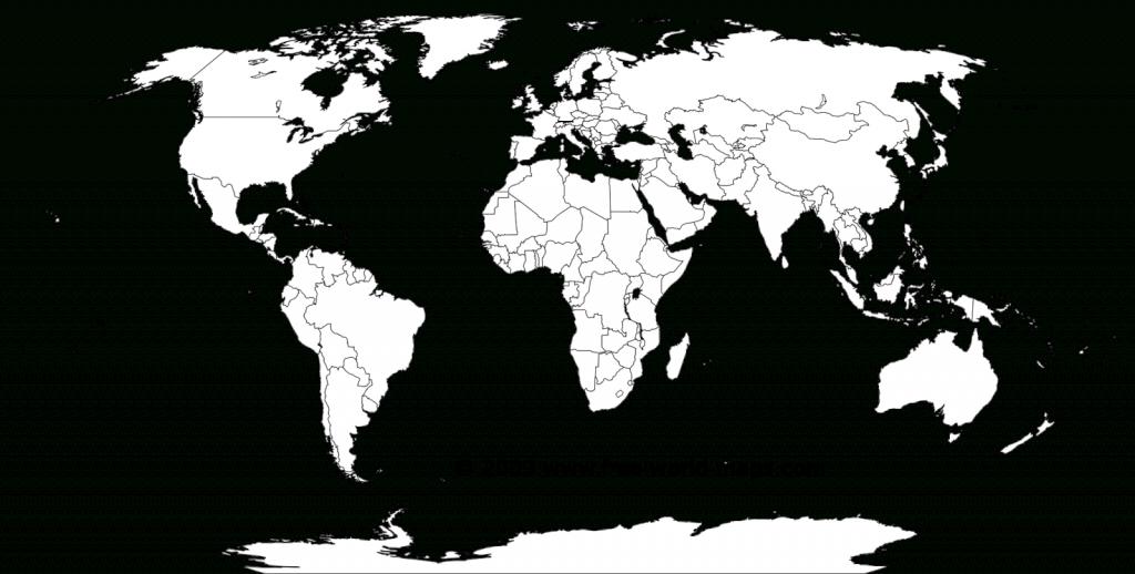 Blank World Map Worksheet ~ Afp Cv - Free Printable Blank World Map
