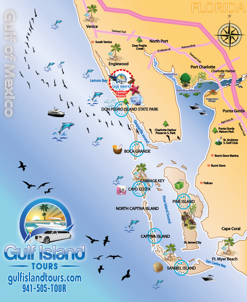 Boat Tours Englewood Fl - 941-505-8687 - Gulf Island Tours Offers - Englewood Florida Map
