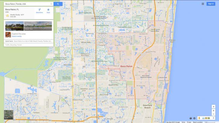 Boca Delray Florida Map