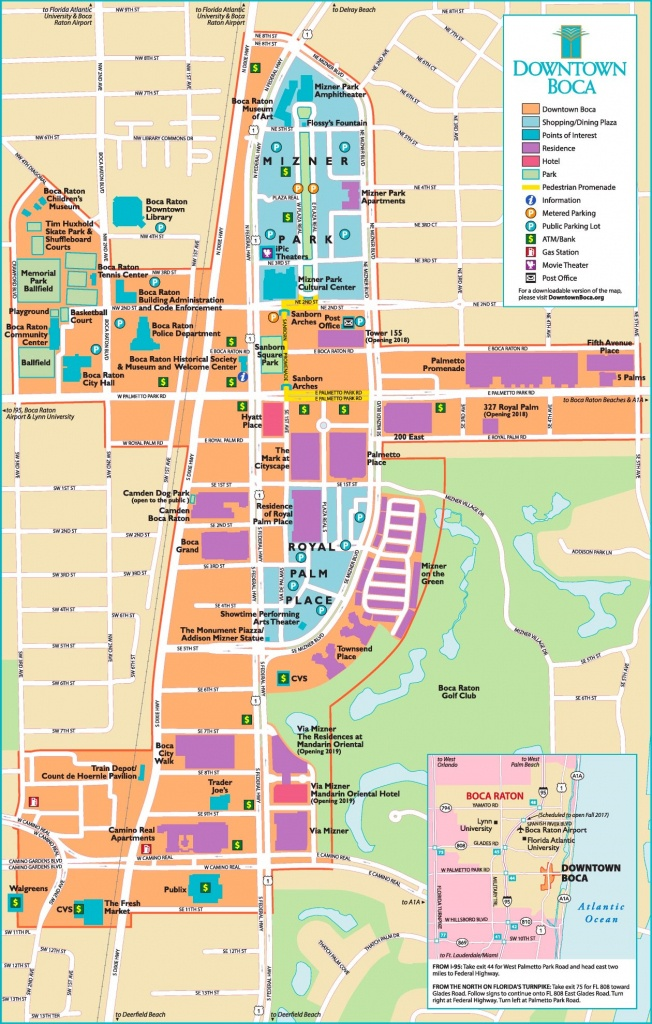 Boca Raton Tourist Map - Map Of Florida Including Boca Raton