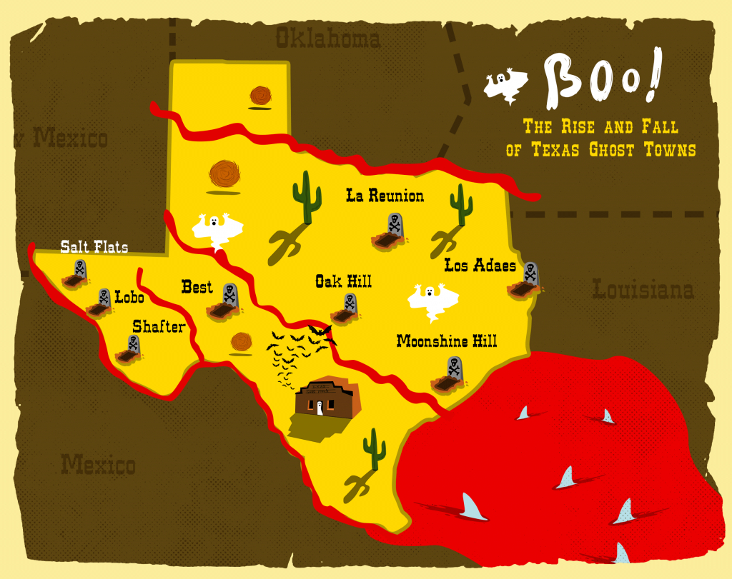 Boo: The Rise And Fall Of Texas Ghost Towns   Texas Standard - Texas Ghost Towns Map