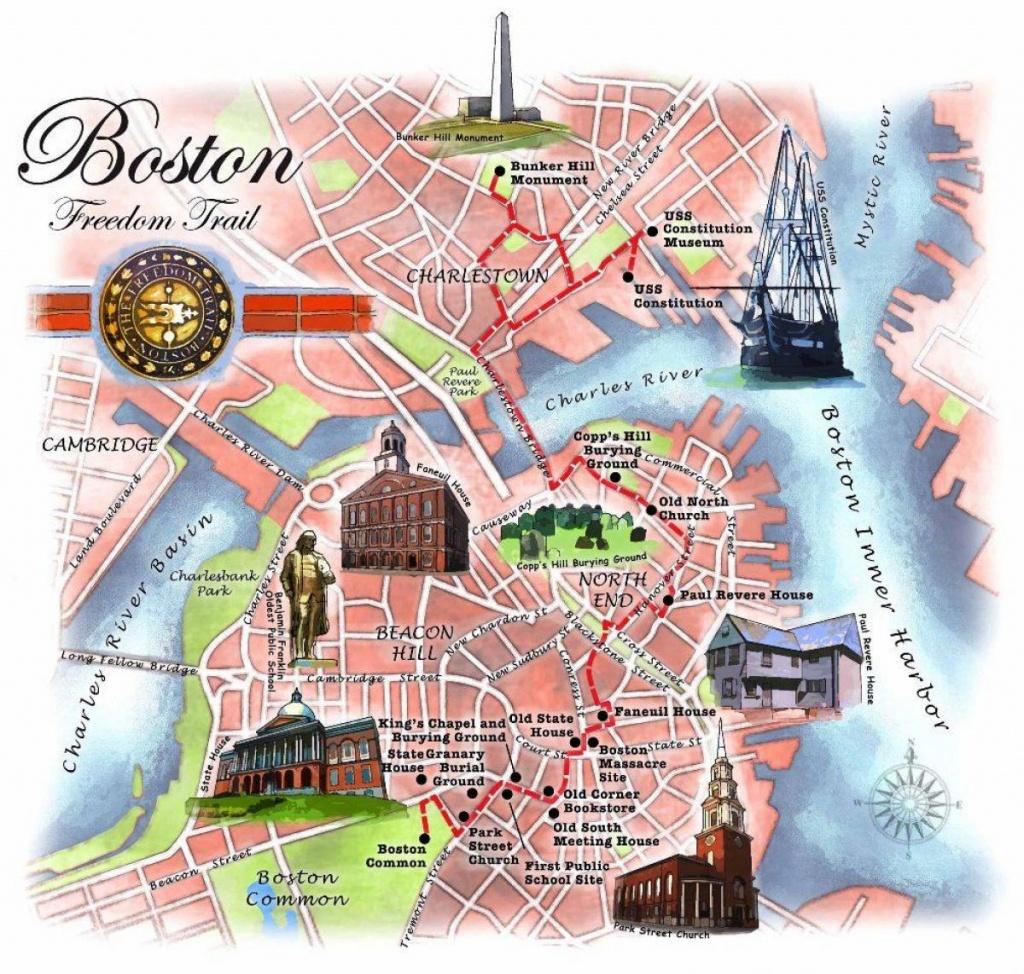 Boston Freedom Trail Map - Freedom Trail Map Boston (United States - Freedom Trail Map Printable