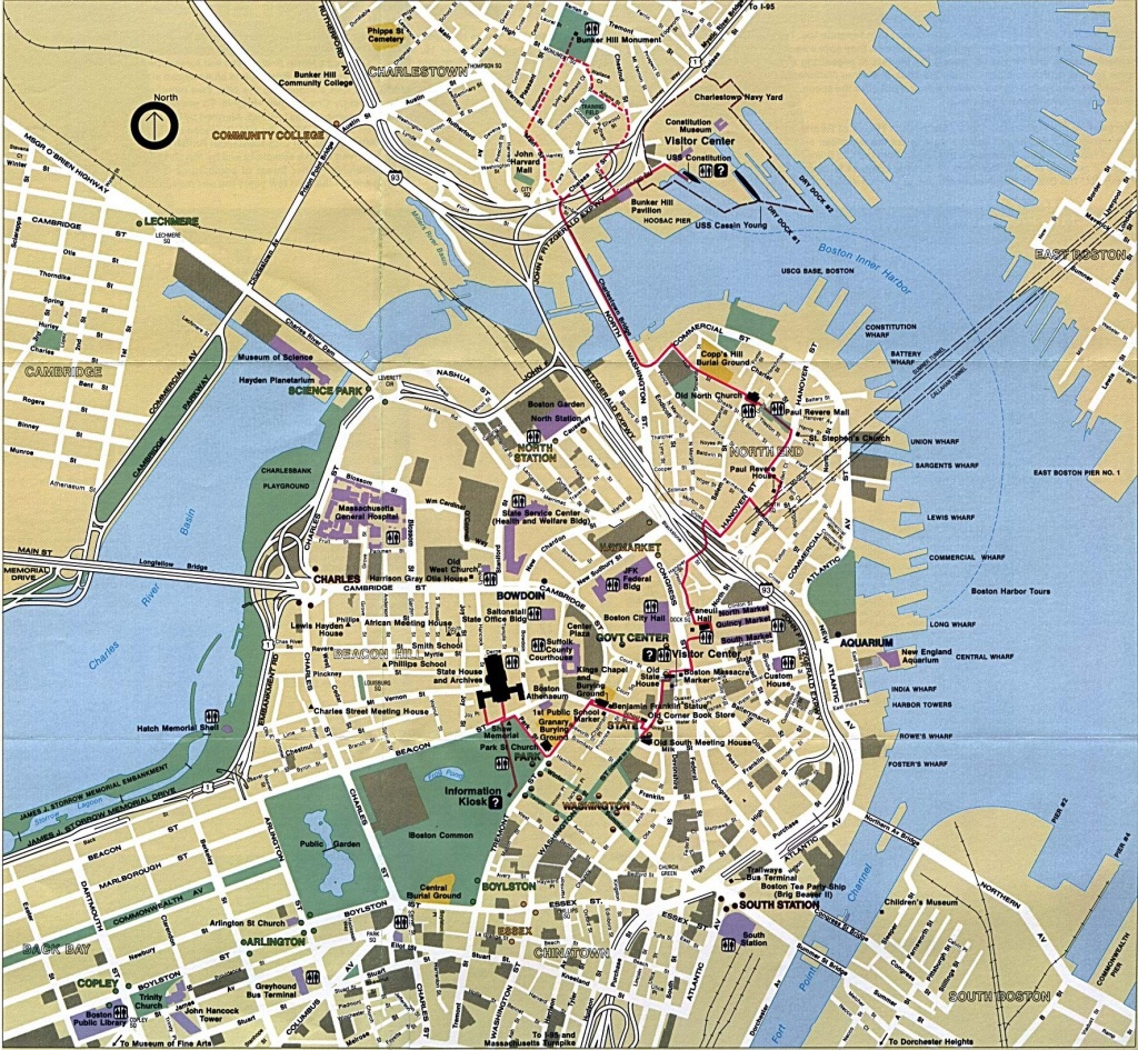 Boston - Google Search | The Beanboston Love In 2019 | Boston Map - Printable Map Of Boston