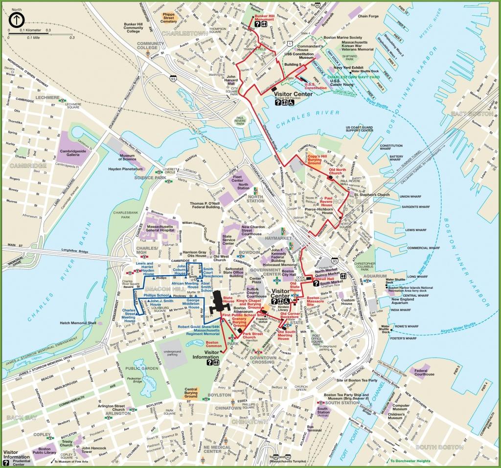 Boston Maps | Massachusetts, U.s. | Maps Of Boston - Printable Map Of Boston