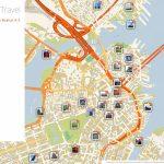 Boston Printable Tourist Map | Sygic Travel   Boston Tourist Map Printable