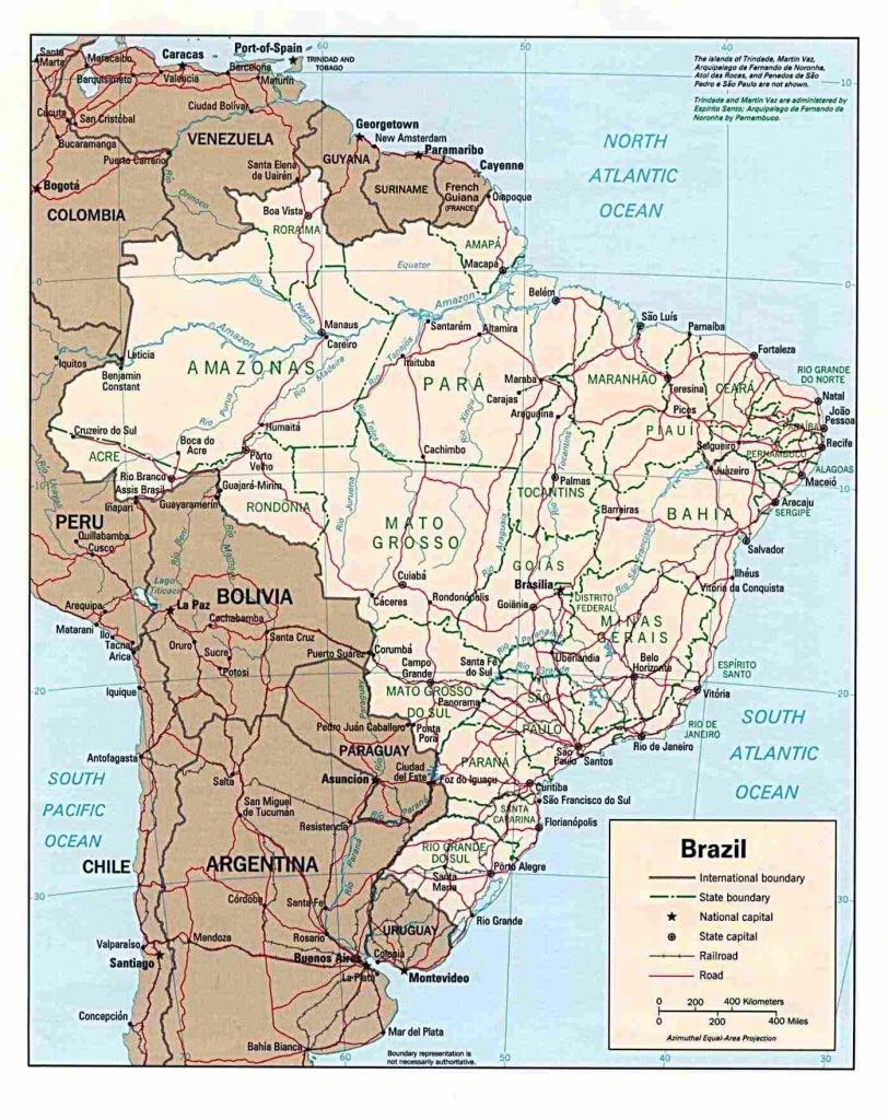Brazil Maps | Printable Maps Of Brazil For Download - Printable Map Of Brazil