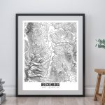 Breckenridge Printable Topographic Map 16X20 Breckenridge | Etsy   Printable Topographic Map