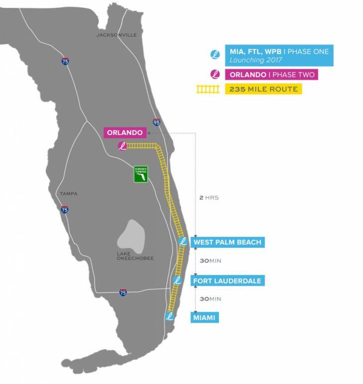 Brightline Florida Map